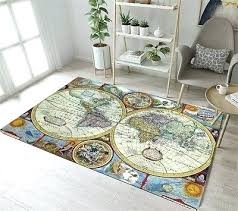 home fashion map area rug united states antique