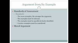 ethics argument by example