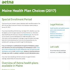aetna maine health plan choices