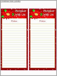 Christmas Wish List Template Pleasant Free Printable Holiday Wish