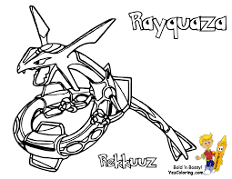 Small Picture legendary pokemon coloring pages rayquaza Just Colorings