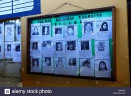 posters for office. Posters With Pictures Of Missing Children Outside Transit Police Office In Main Bus Station, La Paz, Bolivia For