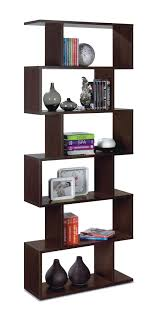 venice open back wenge brown bookcase