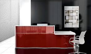 high gloss office furniture. Wave Red High Gloss Reception Desk With DDA Counter Office Furniture