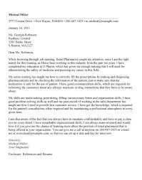 clinical pharmacist cover letters