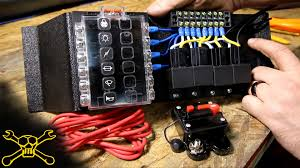 how to make a power relay fuse block automotive wiring youtube diy fuse tap at Wiring Into Fuse Box Car