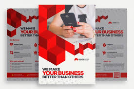 how to make a good flyer for your business geometric business brochure psd file free download