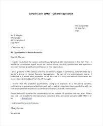 Application Cover Letter Template Job Application Cover Letter For