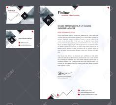 Stationery Letterhead Business Stationery Template Business Card And Letterhead Corporate