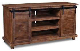 westgate rustic brown 66 sliding barn door tv stand a console