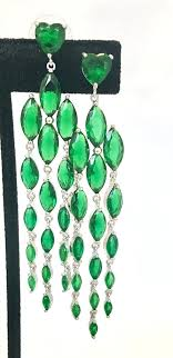 emerald chandelier earrings emerald chandelier earrings green cubic emerald green and gold chandelier earrings