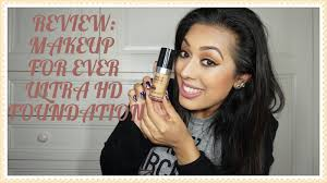review makeup for ever ultra hd foundation
