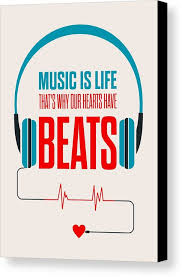 Life Quotes Posters Best Music Life Quotes Poster Canvas Print Canvas Art by Lab No 48