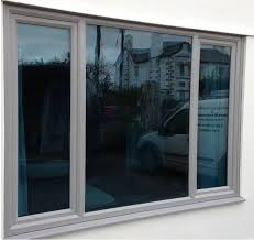 grey pvc window