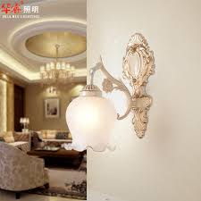 2018 romantic bedroom aisle lights chandelier e27 wall mouted wrought iron antique wall sconce bedside single head double head glass lampshade from