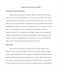 reflective essay samples internship reflective essay