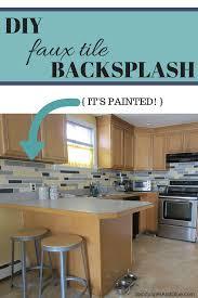 Diy Backsplash Diy Faux Tile Backsplash Stephanie Marchetti Sandpaper Glue