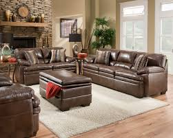 Leather Furniture For Living Room Brown Bonded Leather Sofa Set Casual Living Room Furniture W