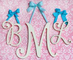 Baby Monogram Wall Decor Nursery Letters Wall Letters Wooden Letters