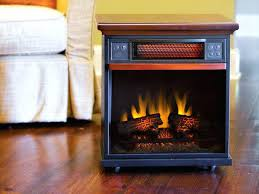 infrared fireplace heater inch sq ft cherry portable if100gra c2 lifesmart lifepro large room