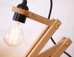 lamp impressive wooden desk lamp wood oak and concrete pliable id lights diy led with