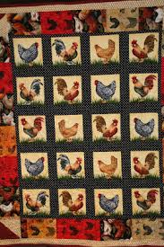 Anne Fannie's Green Acres: Rooster Quilt - Blue Monday & She makes the most beautiful quilts and was I surprised when she gave me a Rooster  quilt made especially for me! She knows how much I love Roosters! Adamdwight.com