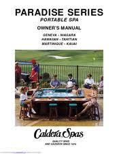 caldera kauai manuals Cal Spa Wiring Diagram caldera kauai owner's manual (24 pages) paradise series portable spa