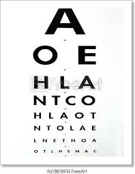 Free Art Print Of Eye Examination Snellen Chart