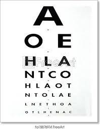 Free Printable Snellen Eye Test Chart Free Art Print Of Eye Examination Snellen Chart