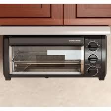 Best Under Cabinet Toaster Oven Black Decker Tros1500b Spacemaker Under The Cabinet 4 Slice