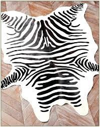zebra print cowhide rug magnificent rugs uk