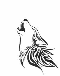 howling wolf drawing tattoo. Perfect Drawing Simple But Beautiful Howling Wolf I Think This Is The One On Howling Wolf Drawing Tattoo L