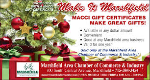 Certificates To Make Macci Gift Certificates Make Great Gifts Marshfield Area