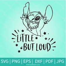 Merry xmas and happy holidays! Stitch Little But Loud Svg Stitch Svg Disney Svg