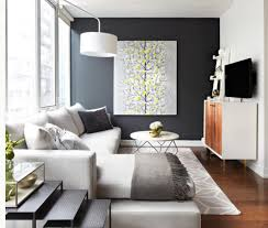 painting accent wallsLove the dark accent wall and the little pop of color in the