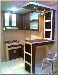 kitchen set dengan mini bar 2 desain dapur kecil dengan mini bar desain rumah