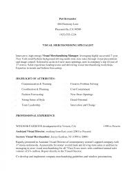 Sample Resume For Merchandiser Job Description Best Solutions Of Visual Merchandising Resume Sample For Field 24