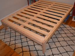 easy diy bed frame with storage how to build wooden step by full size almost finished