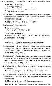 Контрольная работа Атомы химических элементов  Ответы