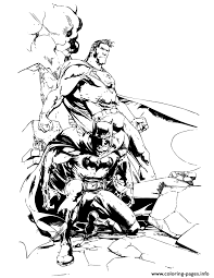 Small Picture dc comics superhero batman and superman Coloring pages Printable