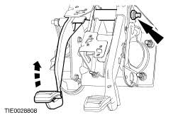 ford workshop manuals > fiesta > mechanical note remove the clutch master cylinder and the clutch pedal as an assembly
