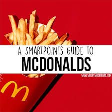 a handy guide to the smartpoints values of mcdonalds food
