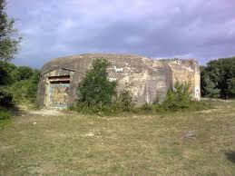 bunker sur la plage de vert bois