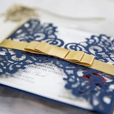 navy blue beauty and the beast laser cut wedding invitation cards Wedding Invitations Navy And Yellow beauty and the beast navy blue wedding invitation cards with gold ribbons ewws196 3 navy blue and yellow wedding invitations