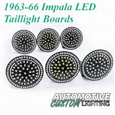 1963 64 chevrolet impala led tail light boards automotive custom 1966 Impala Wiring Guide at How To Install Wiring Harness 1966 Impala