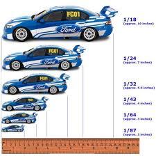 Scale Model Cars Chart Slot Cars Diecast Model Cars