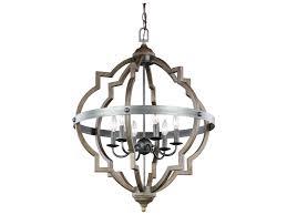 sea gull lighting socorro stardust cerused oak six light 31 75 wide chandelier