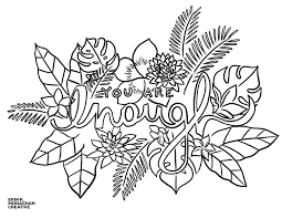 Growth Mindset Coloring Pages Plus You Are Enough To Prepare Perfect