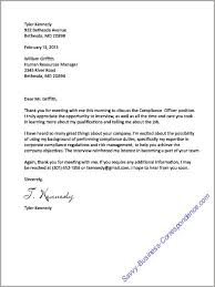 Sample Thank You Letter After Campus Interview