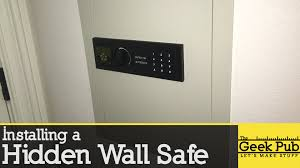Wall safe hidden Pistol Install Hidden Wall Safe Creative Home Engineering Install Hidden Wall Safe Youtube